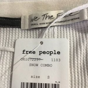Free People Tops - New Free People Bright Side Thermal Shirt Long Slv